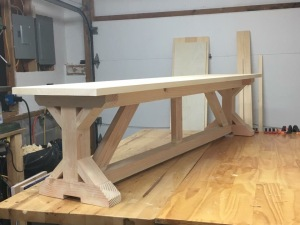 TABLE BENCH PRIOR TO FINISHING