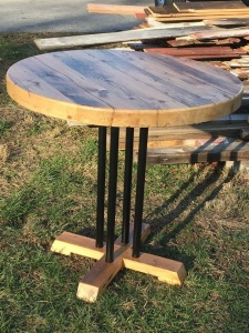 RECLAIMED TABLE, CUSTOM KITCHEN TABLE, CUSTOM TABLE BASE DESIGN BY BELLA WOODWORK DESIGN
