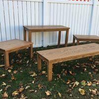 oak living room set